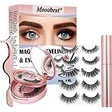 Ciglia Finte Magnetiche, Eyeliner Magnetico, Ciglia Ciglia Magnetiche, Impermeabile e senza colla, Set di ciglia magnetiche r