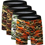 YOULEHE Men's Boxer Shorts Soft Bamboo Underwear Trunks Breathable Multipack