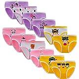 Yintry Niñas Bragas De Algodón Ropa Interior de Calzoncillos cómodos para niños (Paquete de 12)