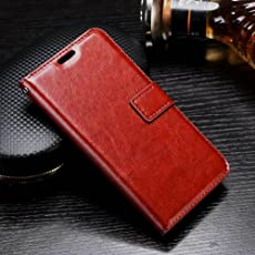 XORB® Zenfone 3 (5.5 inches) Flip Cover PU Leather Case Premium Luxury Revel Touch PU Leather Cover Brown