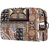 Make-up-Tasche, tragbare Kulturtasche für Frauen, auch toll als Handtasche, für Pinsel und Kosmetik, Reise-Organizer, gemuste