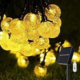 Solar lichterkette aussen, COOLAPA außen solar lichterkette, Lichterkette mit 50er LED Kristallkugeln 8 meter garten lichterk