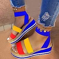 DZQQ Nouveau été Femmes Sandales compensées Impression Ethnique Mode Serpent Chaussures décontractées Femme à Lacets…