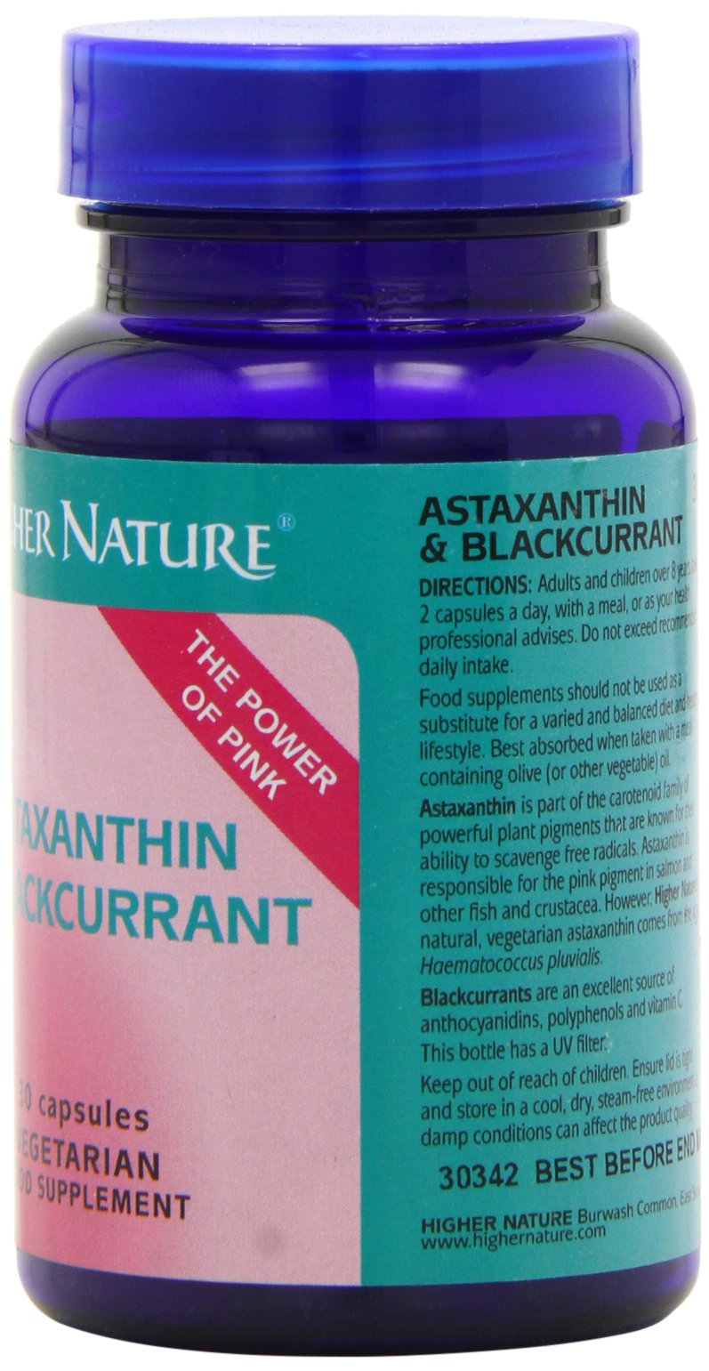 71G7t0Q3GxL - Higher Nature Astaxanthin & Blackcurrant - 30 Capsules