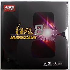 DHS hurricane 8Tischtennis Gummi, rot