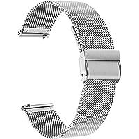 TRUMiRR Sostituzione per Fossil Women's Gen 4 Venture HR Cinturino, 18mm Cinturino Cinturino in Maglia di Acciaio…