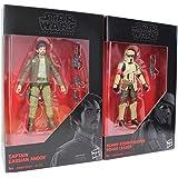 Star Wars - The Black Series 2-Pack de Figuras de acción de 9.5 cm para la película, para niños, niñas y fanáticos (Cassian u