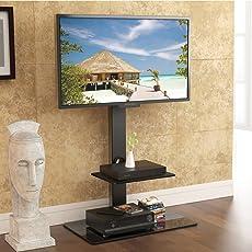 FITUEYES drehbar TV Bodenständer für 32 bis 65 Zoll LED LCD TV Bildschirm Schwarz TT207001MB
