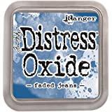 Ranger Tim Holtz Distress Oxide Pad-Faded Jeans, Synthetic Material, Blue, 7.6 x 7.6 x 1.9 cm