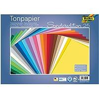 folia 6725/25 99 - Tonpapier Mix, 25 x 35 cm, 130 g/qm, 25 Blatt sortiert in 25 Farben - ideale Grundlage für…
