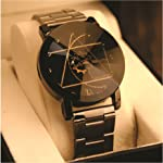 Skylofts Black Dial Stainless Steel Chrome Plated Men Watches & Boys Watch Analog Watch - for Men