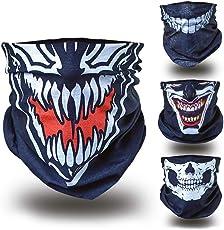 BlackNugget Bedrucktes Multifunktionstuch mit Ausgefallenem Design - Hochwertige Sturmhaube als Wärm- und Schutztuch - Halstuch, Face Shield, Gesichtsmaske - Verschiedene Muster