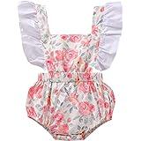 I3CKIZCE Body de bebé de 0 a 24 meses sin mangas con encaje estampado floral moderno dulce casual