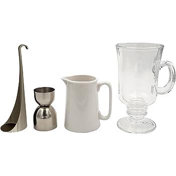 Cookut ICO Irish Coffee–make a perfect Irish Coffee at Home–Attrezzo speciale strato incluso–Set completo–ideale per tutti gli strati cocktails