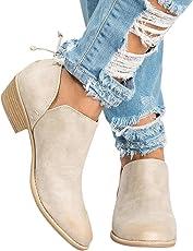 Stiefel Damen Boots Winterschuhe Frauen Herbst Schuhe Mode Ankle Segelschuhe Leder Martin Schuhe Kurze Stiefel Blockabsatz Boot ABsoar