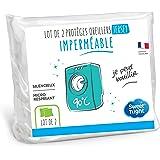 Sweetnight - Lot de 2 Protège Oreillers 65x65 cm | Set de 2 | Imperméable et Micro Respirant | Souple et Silencieux | Lavable