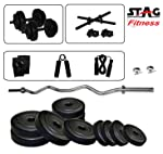 Stag 3 Ft Curl Rod Home Gym Set (8kg / 12 kg / 16kg / 20kg)