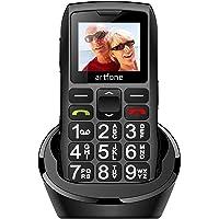 artfone C1+ Seniorenhandy ohne Vertrag | Dual SIM Handy mit Notruftaste | Rentner Handy große Tasten | 1400 mAh Akku…