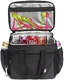 VASCHY Große Kühltasche, 30 Kanister 23 Liter Isolierte Kühlbox Lunch Tasche Auslaufsicheres Lunchpaket Multi-Taschen Picknick-Tasche mit Bier Opener Lunchtasche für Reisen, Camping, Strand