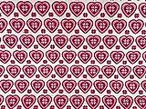 Rose & Hubble Rot auf Cremefarben Weihnachten Liebe Herz