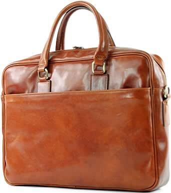 modamoda de - A004 - ital. Business Laptop Reise Tasche Leder