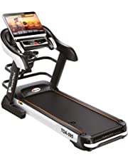 Powermax Fitness TDA-595 (4.0 HP), 18.5inch Touch Screen, Auto Lubrication, Multifunction Motorized Treadmill for Daily Workout (Free Installation Service)