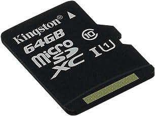 Kingston SDCS/64GBSP Canvas Select Scheda MicroSD 64 GB, Velocità UHS-I di Classe 10 fino a 80 MB/s in Lettura, senza Adattatore SD