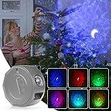 Sternenhimmel Projektor, 14 Modi mit 6 Farbwechseln, 3 Helligkeitsstufen, ideal für Kinder und Erwachsene, USB-Aufladung, tra