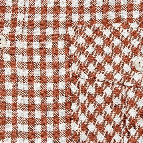 Kitaro, langarm Hemd, 195117, terra weiß kariert [8464] Terra