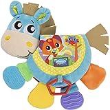 Juguetes Playgro Libro musical en forma de caballo Klipp Klapp, Juguete para bebés, A partir de 3 meses, Libre de BPA, Colori