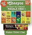Chaayos Instant Tea Premix - Regular Sugar - Masala Flavour (15 Sachets) | Instant Tea | Tea Premix | Masala Tea | Masala Chai | Assam Tea | Flavored Tea | Tea Masala Mix