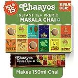 Chaayos Instant Tea Premix - Regular Sugar - Masala Flavour (15 Sachets) | Instant Tea | Tea Premix | Masala Tea | Masala Cha