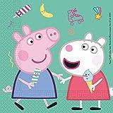 Procos 20019 91034 – servetter Peppa Pig, 20 stycken, storlek 33 x 33 cm, munduk, barnfödelsedag, festservis, bordsdekoration