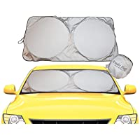 Parasole per Parabrezza -Tessuto 210T Il Migliore sul Mercato, Massima Protezione dai Raggi UV e dal Sole - Parasole…