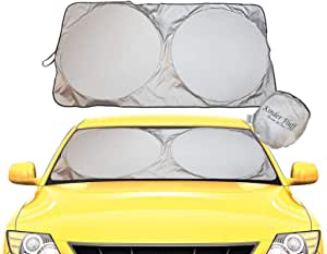 Sun Shade For Car Windscreen High Quality 210t Fabric For Maximum Uv And Sun Protection Foldable Sun Protector For Car Windscreen Keeps Your Car Cooler L Auto