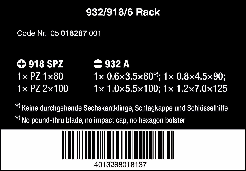 Wera 05018287001 Juego de destornilladores, 345 x 200 x 85 mm