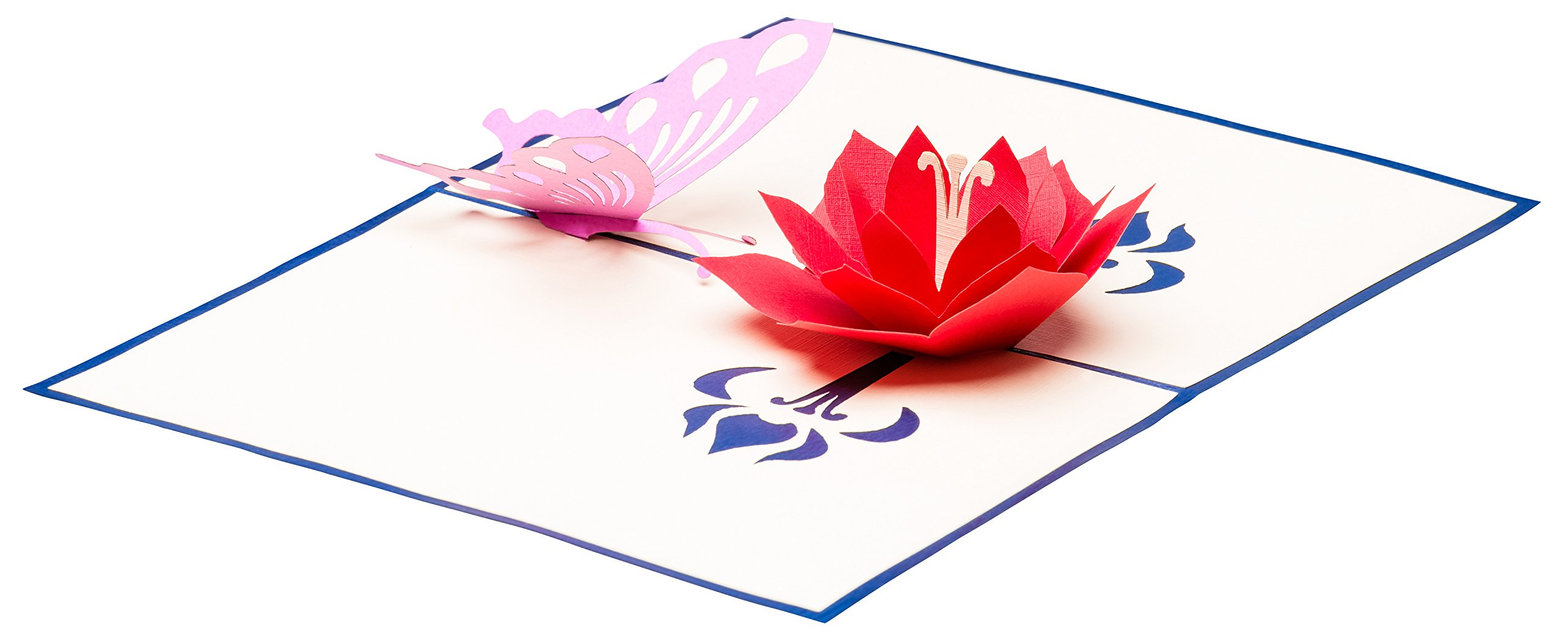 "Muttertagskarte mit Blume primetea 3D Pop up Geburtstagskarte /""Lotusblüte/"""
