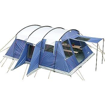 skandika milano 6 personen familien zelt blau wasserdicht. Black Bedroom Furniture Sets. Home Design Ideas