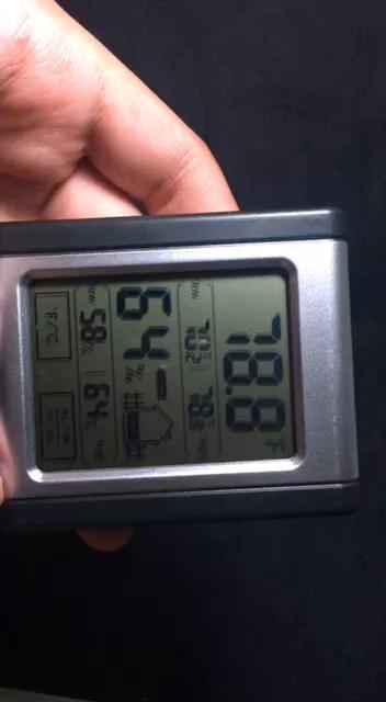 Lemebo Termómetro Higrometro digital LCD Pantalla Medidor Temperatura Medidor Temperatura y Humedad (Negro): Amazon.es: Jardín