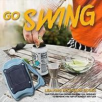 Go Swing Topless Can Opener  Apriporta Manuale in Topless Bordo Liscio  Apriscatole Professionale  Apriscatole Bar  Apriscatole Senza Sforzo per La Cucina della Famiglia