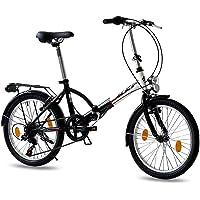 KCP 20 Zoll Faltrad Klapprad - Foldo Steel Weiss schwarz- Faltfahrrad für Herren und Damen - 20 Zoll klappbares Fahrrad…
