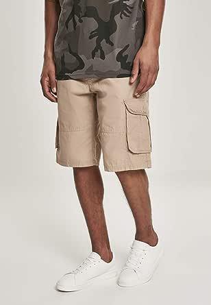 Southpole Herren Belted Ripstop Cargo Shorts, Khaki, 32