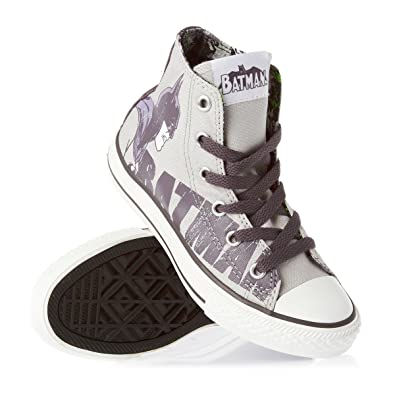 kids gray converse e6he  Converse Unisex Kids' Ctas Season Hi Gymnastics Shoes 33 Grigio