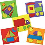 Imagimake Activity Puzzle Kit for 2 Years And Above, 5 Vehicle Puzzles, Multicolour