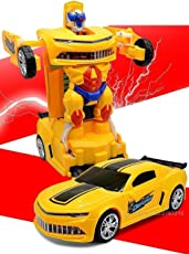 2in1 Converting Transformer Robot Car Toy for Kids (Multi Color)