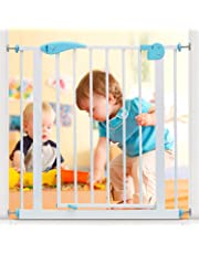 Kurtzy Baby Safety Gate Doorway Stairs Barrier Dog Gate with Protective Lock (Assorted Colors)
