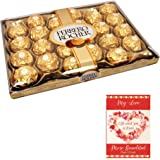 SFU E Com 24 Pieces Ferrero Rocher Valentine Gift Pack | Valentine Gift for Boys | Valentine Gift for Girls | Ferrero Rocher