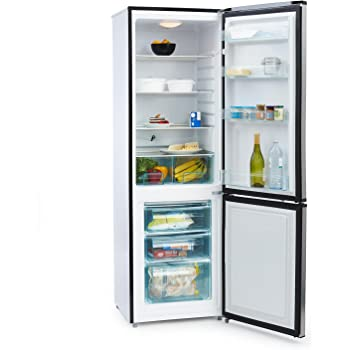 Klarstein Big Mommy Cool Frigorifero Combinato Frigo-Congelatore Classe A++ (60 x 187 x 60 cm, 300 Litri, 4 Ripiani, 3 cassetti, Freezer, Illuminazione Interna) Bianco