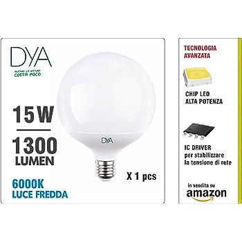 Dya globo LED 1 * W luz fría e27 10 * * lúmenes