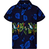 V.H.O. Camisa hawaiana Funky | Hombre | Manga corta | Bolsillo frontal | Estampado hawaiano | Fiesta floral